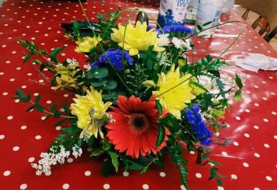 Flower arranging practice